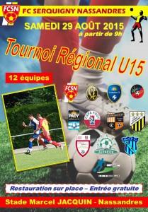 Affiche Tournoi U15 29-08-15