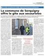 Article de l'Eveil sur la mise à disposition du Gîte communal pour les secouristes qui effectuent des maraudes