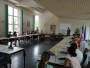 Mme Tamarelle-Verhaerghe Députée de l'Eure à la mairie avec les élèves de CM2 et leurs professeures